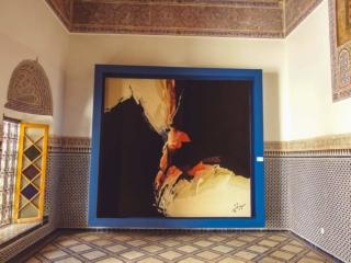 Teppichkunst im Museum Dar Si Said in Marrakesch
