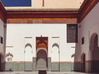 Innenhof im Museum Dar Si Said in Marrakesch