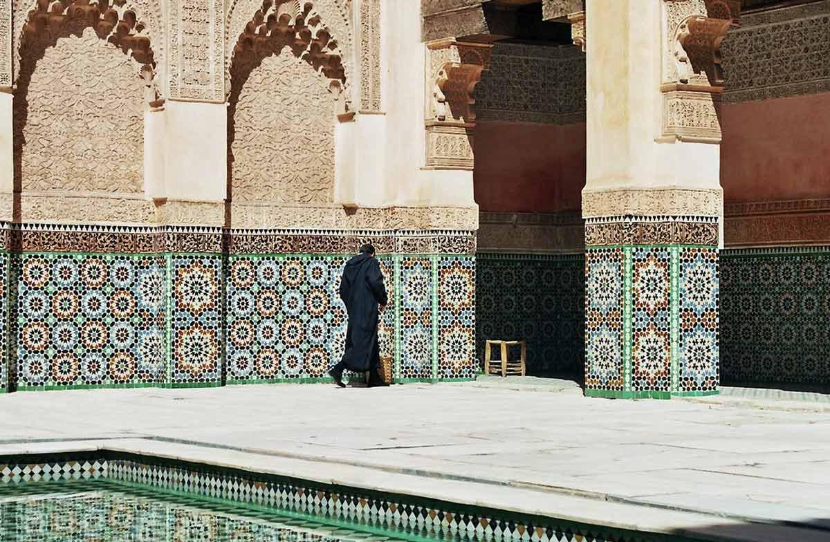 Die berühmte Koranschule Medersa Ben Youssef in Marrakesch