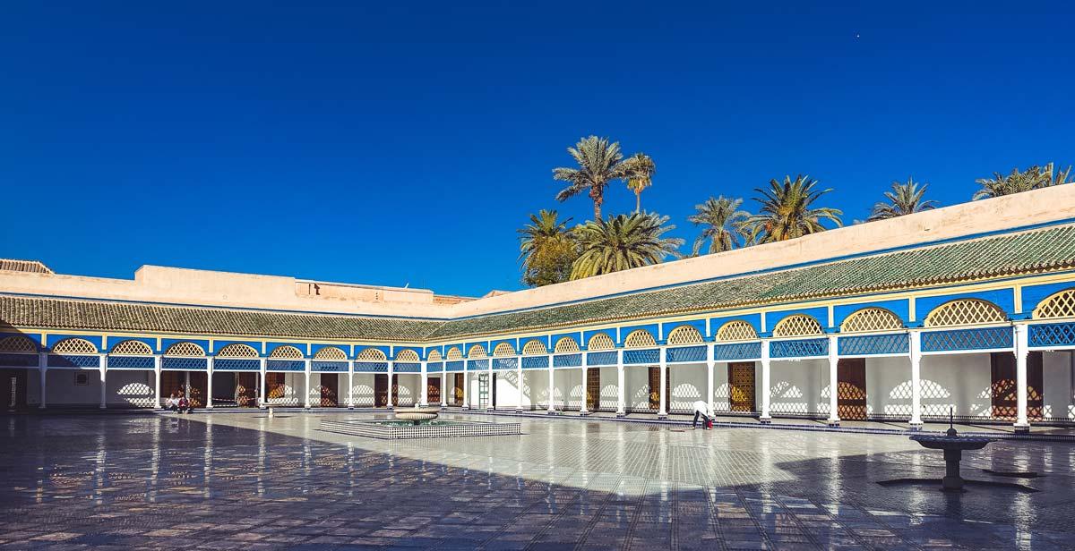 Ehrenhof im Bahia-Palast in Marrakesch