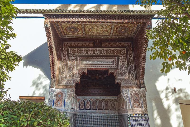 Verzierungen im Bahia-Palast-Marrakesch