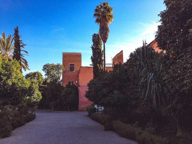 Eingangsbereich Bahia-Palast Marrakesch