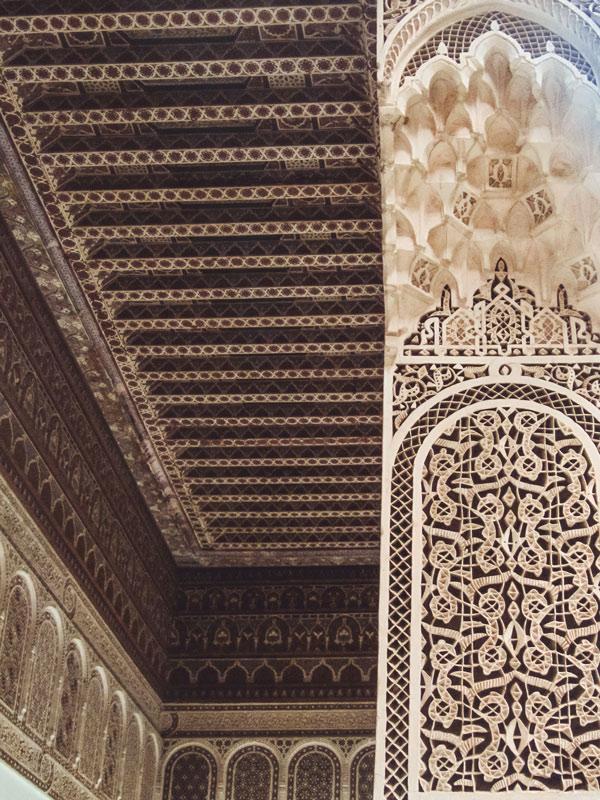 Stuckverzierungen im Bahia-Palast in Marrakesch