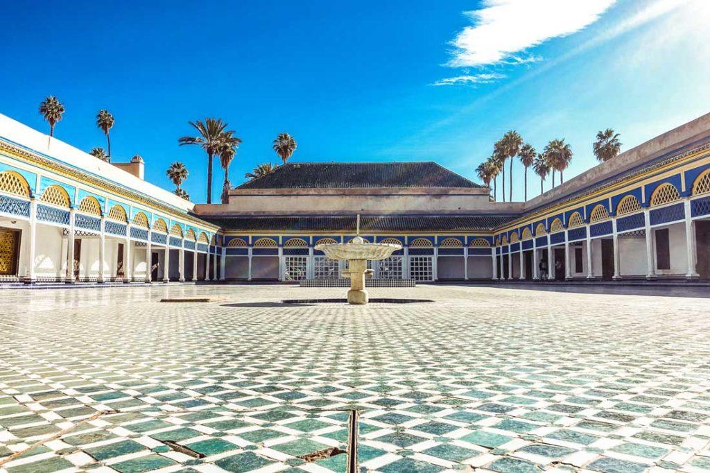Ehrenhof im Bahia-Palast in Marrakesch (Marokko)