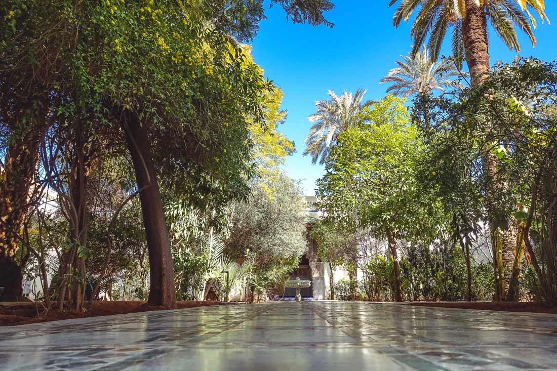 Garten im Bahia Palast in Marrakesch