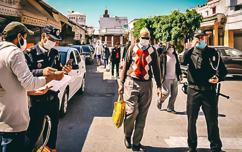 Polizei in Marokko überwacht Einschränkungen