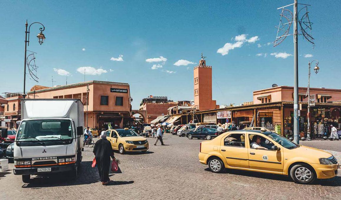 Petit Taxis in Marrakesch