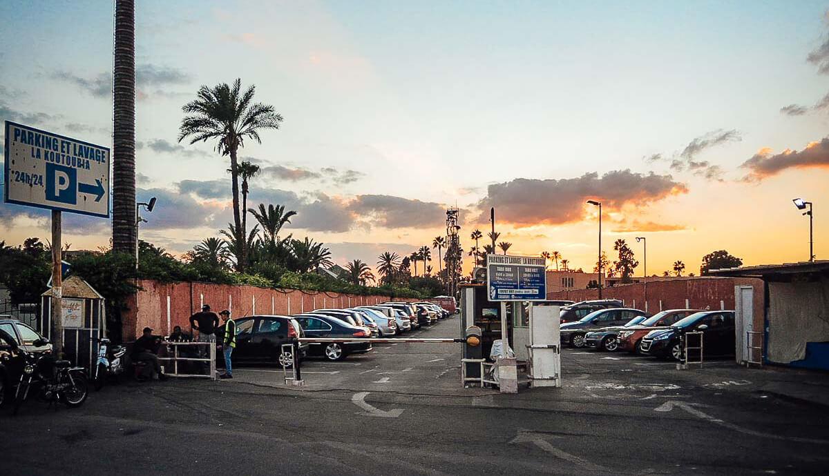Parken Koutoubia Marrakesch