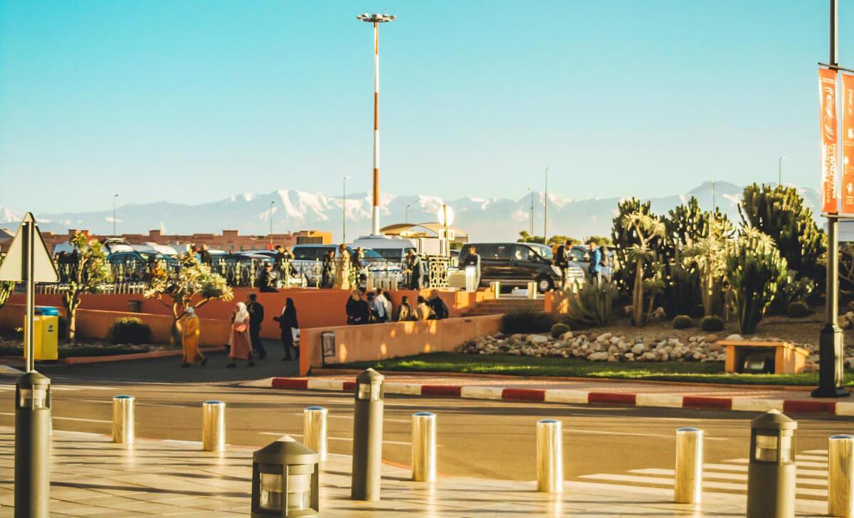 Parken am Flughafen Marrakesch