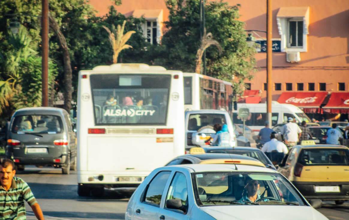Stau in Marrakesch